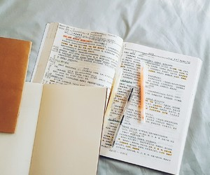 books, calligraphy, and diary image