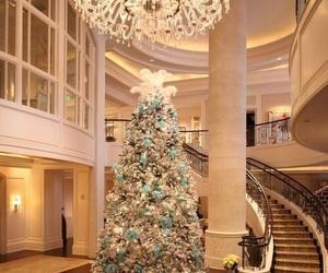 christmas, christmas tree, and interior image