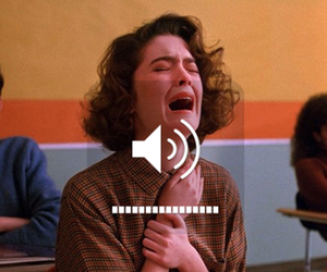 cry, girl, and Twin Peaks image