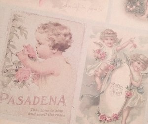 pink, pastel, and angel image