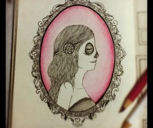art, cameo, and coloring image