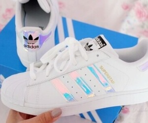adidas, holographic, and shoes image