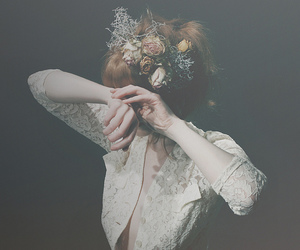 d, dark, and flowers image