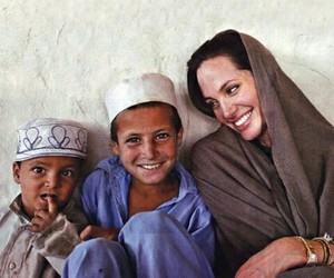 Angelina Jolie, kids, and smile image