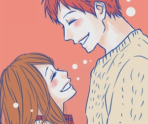 anime, orange, and couple image