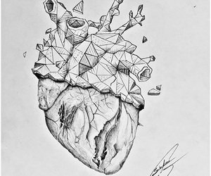 coeur, dessin, and drawing image