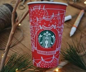 christmas, coffee, and cold image