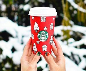 christmas, cold, and coffee image