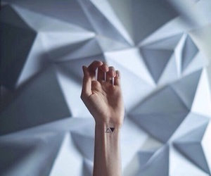 tattoo, triangle, and hand image