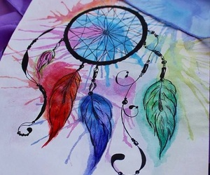art, dream catcher, and drawing image