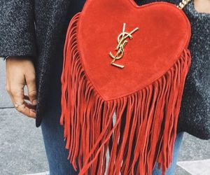 fringe, heart, and hearts image
