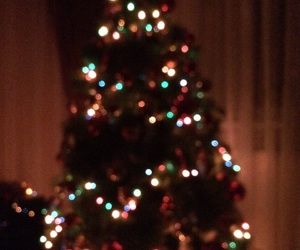 lights, happynewyear, and christmastree image