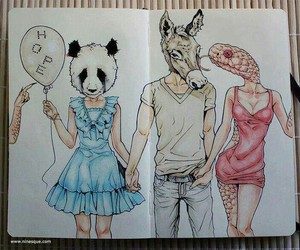 hope, panda, and snake image