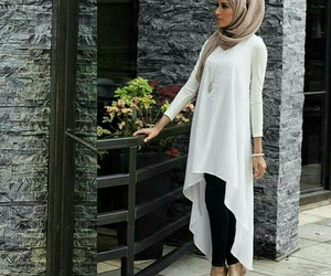 hijab, feet, and style image