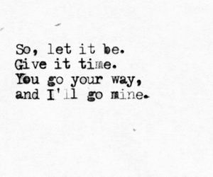 quote, goodbye, and time image