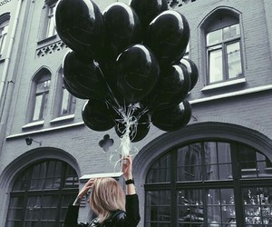 black and balloons image