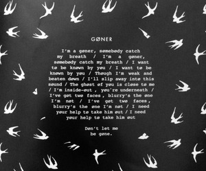 goner, twenty one pilots, and Lyrics image