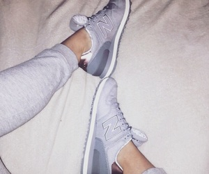 gris, new balance, and rosegold image