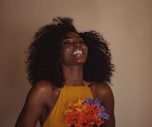 flowers, beauty, and smile image