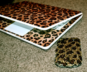 leopard, laptop, and animal print image