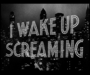 black and white, screaming, and text image