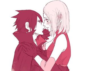 anime, sasuke, and sakura image
