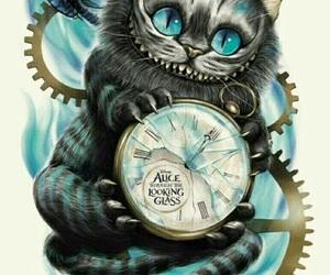 alice in wonderland, cat, and disney image