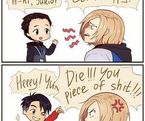 yuri on ice, anime, and otabek image