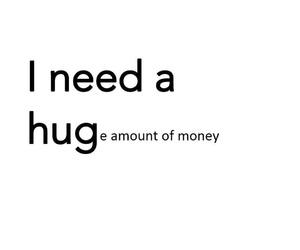 funny, money, and hug image