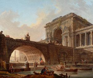 18th century, hubert robert, and painting image