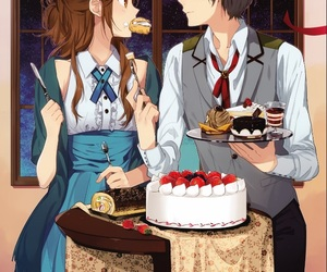 horimiya, cake, and couple image