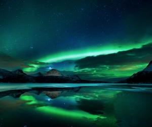 aurora, colour, and lake image