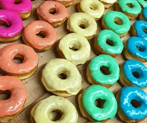 candy, colors, and donuts image