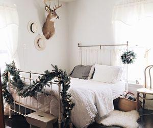christmas, home, and bedroom image