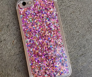 iphone 6, iphone 7, and glitter case image