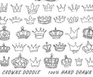 crowns, doodle, and draw image