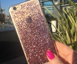 iphone 6, iphone 7, and ombre glitter image