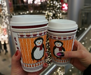 christmas, coffe, and costa image