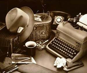 journalism, journalist, and vintage image