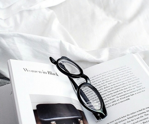 book, glasses, and magazine image