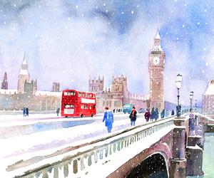 christmas, Londra, and england image