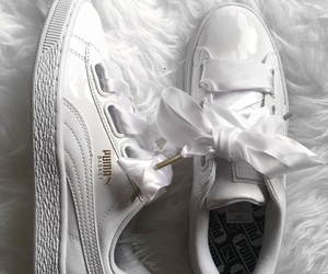 puma, sneaker, and white image
