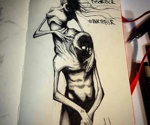 disorder, dependent, and inktober image