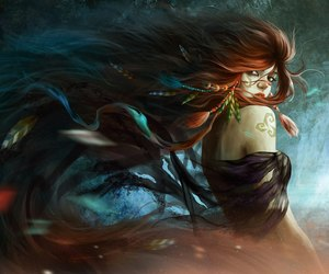 girl and fantasy image