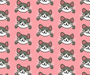 cat, pattern, and pink image