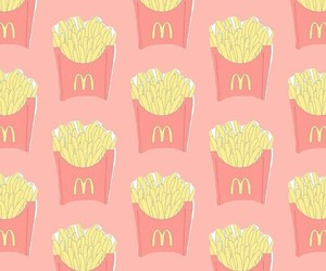fries, McDonald's, and pattern image