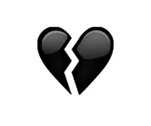 heart, black, and broken image