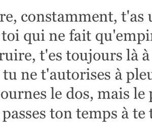french, quotes, and sad image