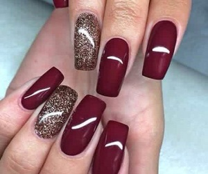 nails, beauty, and christmas image