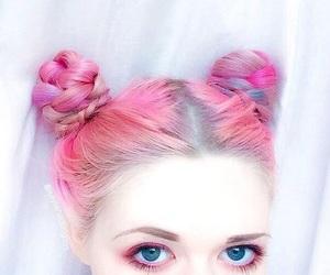 pink, hair, and eyes image